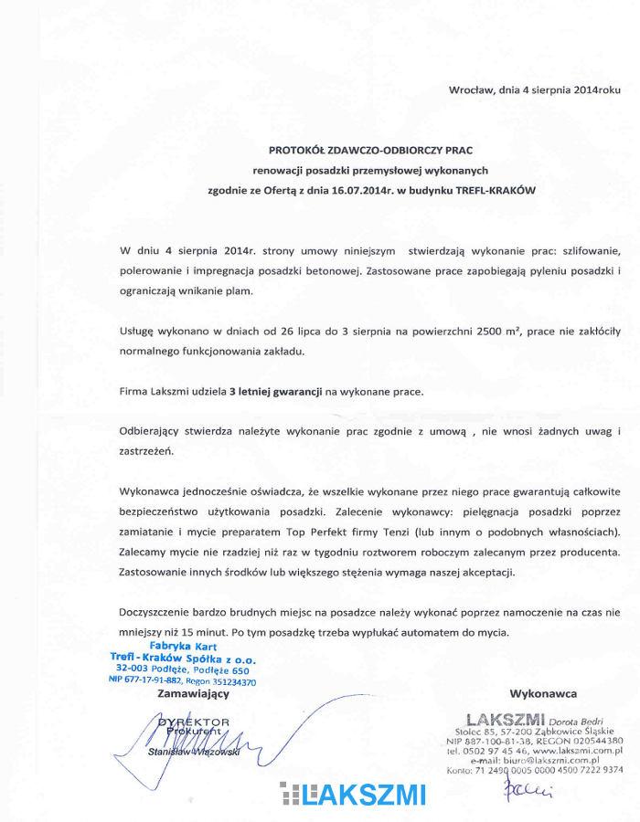Polecana Firma Renowacja Posadzek